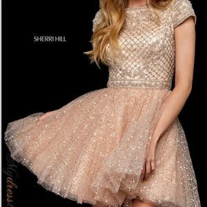 Sherri Hill 52273 Beaded Cocktail Formal Dress